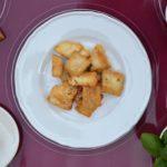 Pesce persico al Parmigiano e basilico