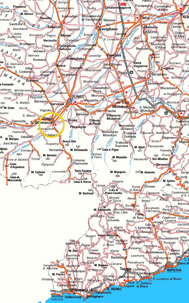 mappaBorgo SanDalmazzo