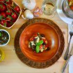 Gallinella di mare con Pachino, capperi e olive taggiasche (in vasocottura)