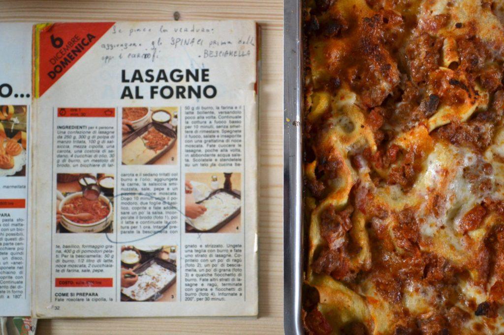 Lasagne al forno (Guida cucina 1982)