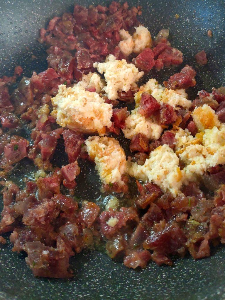 Salame rosolato per frittata rognosa